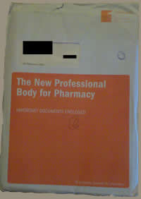 The New Professional Body for Pharmacy Envelope