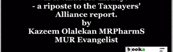 Taxpayers' Alliance report on MUR – a riposte